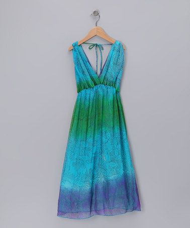 Take a look at this Blue Hippie Dip-Dye Dress - Girls by Peace of Cake on #zulily today!