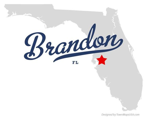 Map of Brandon Florida FL