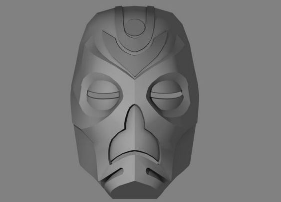 Skyrim - Life Size Dragon Priest Mask Ver.5 Free Papercraft Download ...