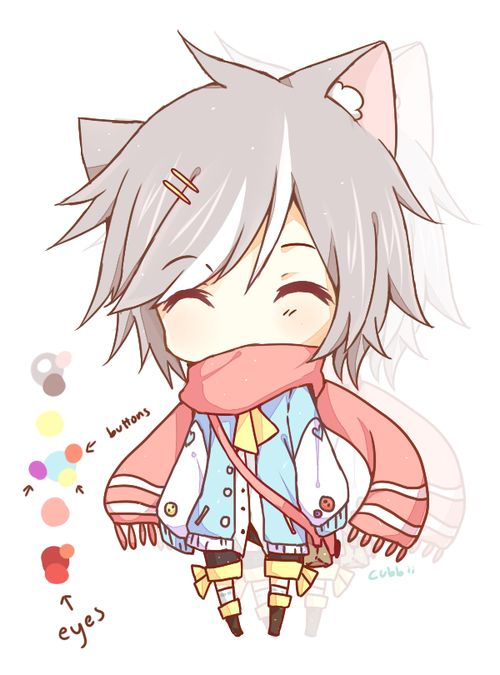 Anime Kawaii Chibi Boy Neko