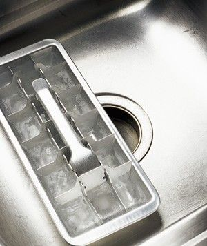 Vinegar ice trays as garbage disposal cleaner