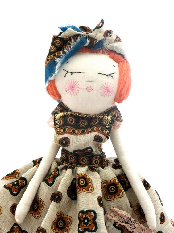Gypsy Girl cloth dolly by thecatintheshoe on Etsy