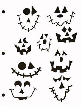 Jack O Lantern Faces Stencil - Large