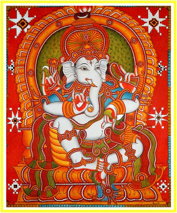 Pinterest the world s catalogue of ideas for Mural art of ganesha