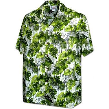 chemise hawaienne ...TREILLE VERTE