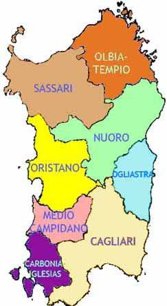 Map Of Sardinia Beaches  Click To Find Out More Info On Each Area
