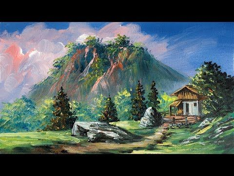 Easy Landscape Painting For Beginners Realistic Acrylic Painting Tutorial How To P Landscape Paintings Easy Landscape Paintings Landscape Painting Tutorial