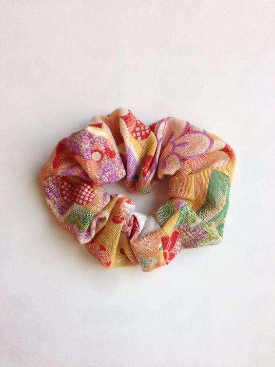 Japanese fabric scrunchie, japanese pattern gauze on Etsy, ¥159.57