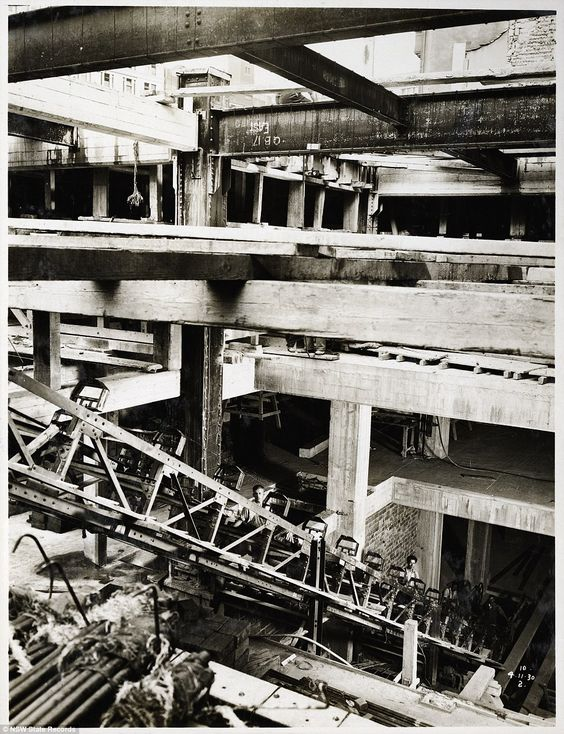 One of the biggest jobs at Wynyard Station in 1930 was the erection of the…