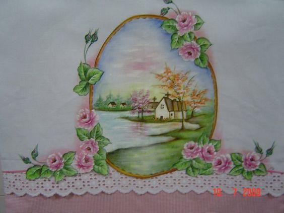 paisagem e rosas