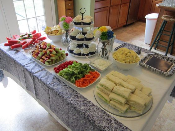Cupcakes, watermelon slices, cheese + crackers, fruit kabobs, veggie ...