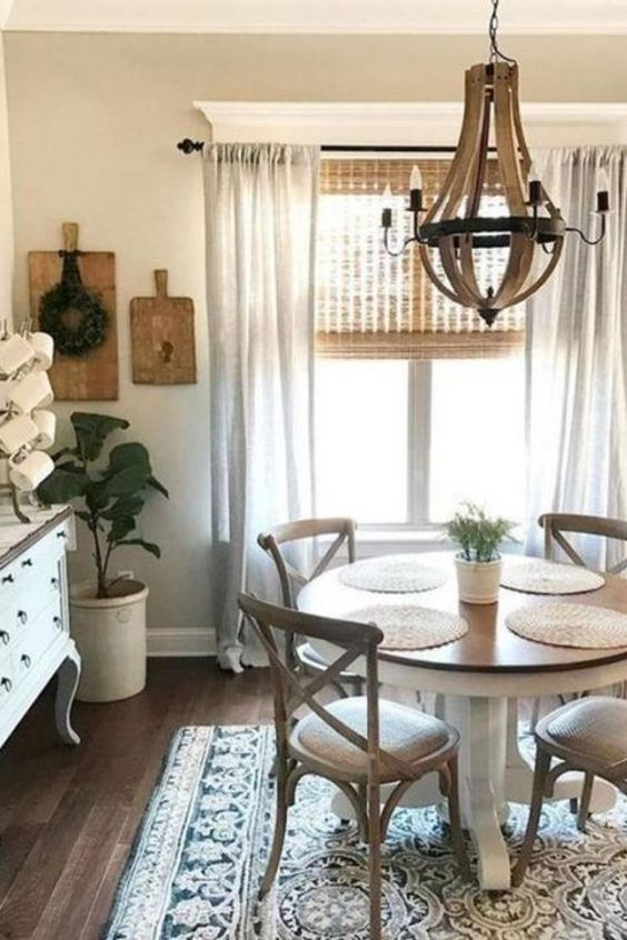 Table Farmhouse Dining Table Living Room Furniture White