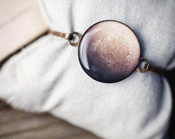 Rustic bracelet  Mercury  Planet inspired jewelry by BeautySpot