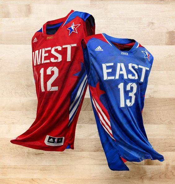ADIDAS 2013 NBA ALL-STAR GAME UNIFORMS