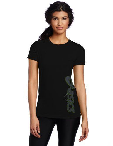 Asics Women's Bounce Tee, Black, Large by ASICS. $8.80. Look great on and off the court with this sharp performance top.