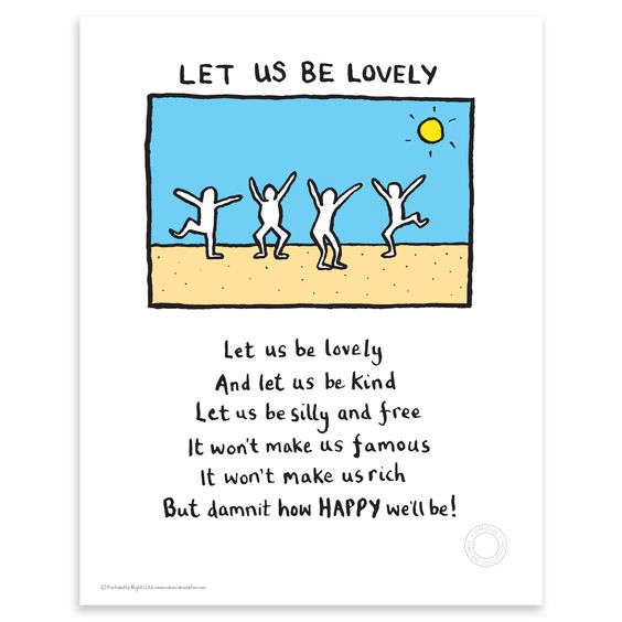 Edward Monkton - Let us be lovely, Limited Edition Print, 35.56x27.94cm | ACHICA