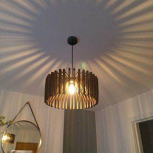 Houten Hanger Licht Moderne Kroonluchter Verlichting Opknoping Dining Lamp Plafond Lichtpunt Geometrische Lamp Minimal Contemporary Moderne Kroonluchter Vintage Lampen Lampen
