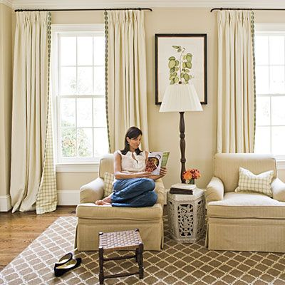 Curtains 101 | Curtain rods, Love the and Living rooms