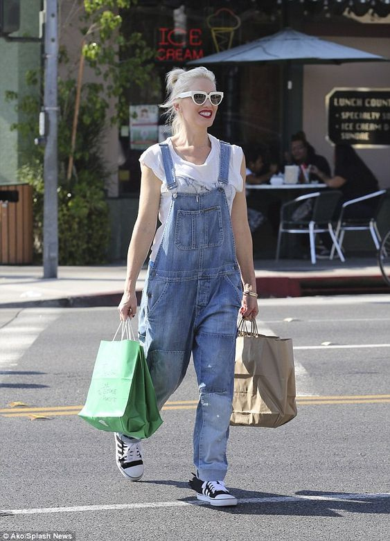 Positively happy: The No Doubt singer looked beyond radiant as she strolled through the street