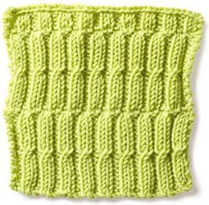 Free Knitting Stitch Gallery : Stitch Gallery - Broken Rib with Twist Yarn Free Knitting Patterns Croc...