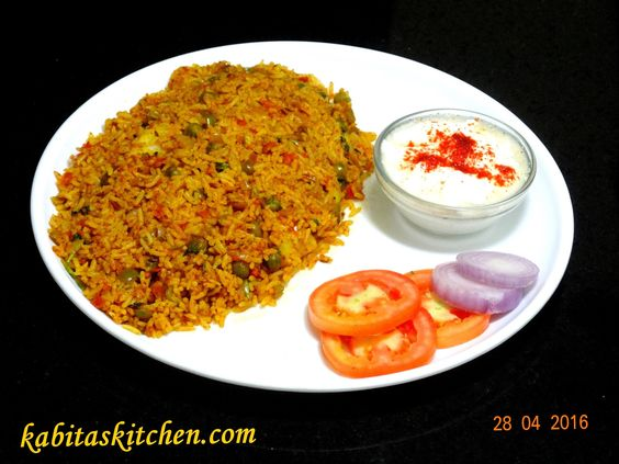 Tawa Pulao Recipe-Mumbai Style Tawa Pulao-Easy and Quick Pulao-Indian Ri...
