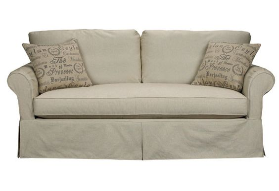 1129 Slipcover Sofa With Overstuffed Feather Bench By Brentwood Classics Frenchcountry Life