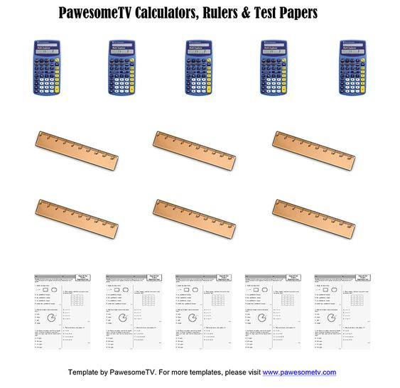 DIY Calculators Rulers amp Test Papers PawesomeTV