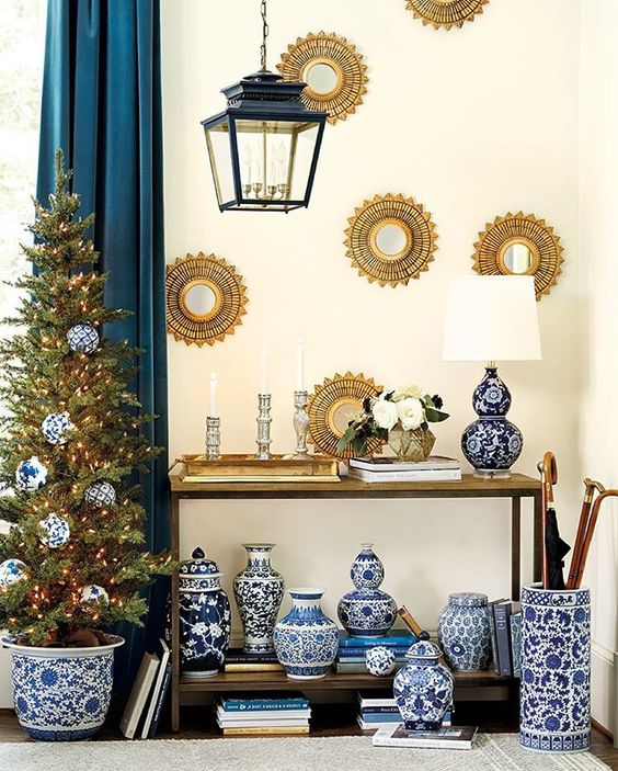 """""""The answer is blue and white. To all the questions. On your tree, in your tree, on a shelf, on the wall ... It's just a timeless combination we never get…"""""""