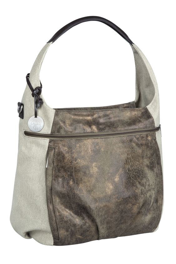 Styisch und hoch funktional - die Casual Hobo Bag von LÄSSIG in Olive-Beige