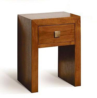 mesa de noche sunkai 1 cajon material madera de teca