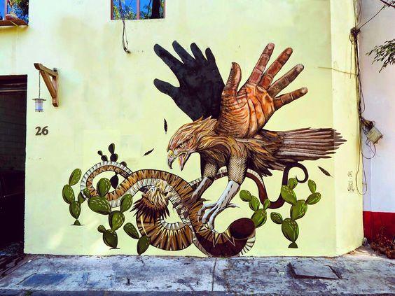 Despliega tus alas Alexis Diaz y Franco Fasoli - JAZ en la Cd. de México #streetart #arteurbano
