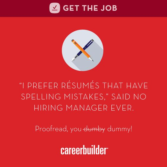 Proofreading Itu0027s the difference between sending employers the - careerbuilder resume search