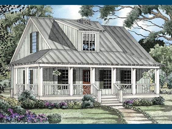 Safe harbor country cabin home home house plans and the for Rustic house plans with wrap around porch
