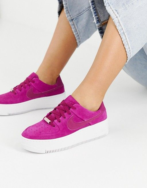 air force 1 sage low rose fushia femme