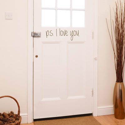 PS I Love You - Quote Wall Decals Stickers. Nice reminder when family and friends leave - Compost Rules.