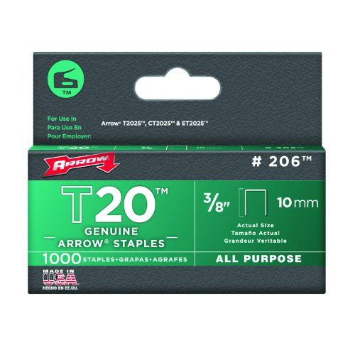 Arrow 206 Genuine T20 3/8-Inch Staples, 1,000-Pack * CONTINUE @ http://www.laminatepanel.com/store/arrow-206-genuine-t20-38-inch-staples-1000-pack/?b=9584