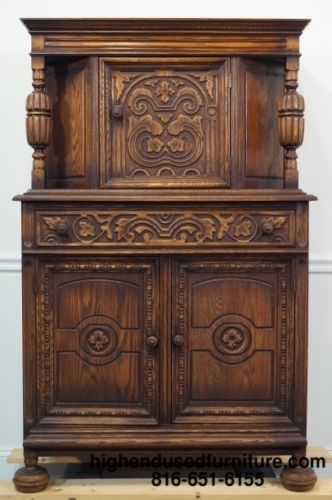 Antique Gothic Revival Jacobean Oak 39 Court Cupboard Antiques Cupboards And Gothic