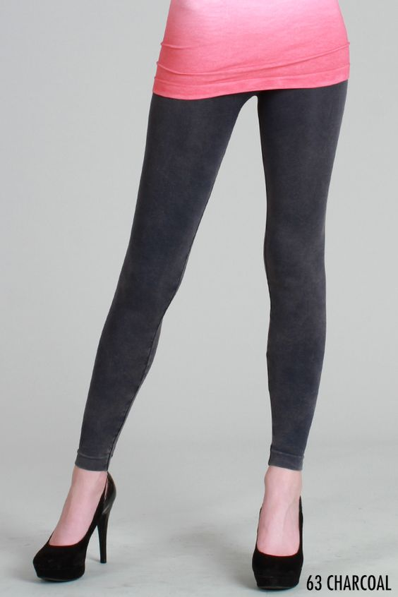 Charcoal Vintage Dye Leggings
