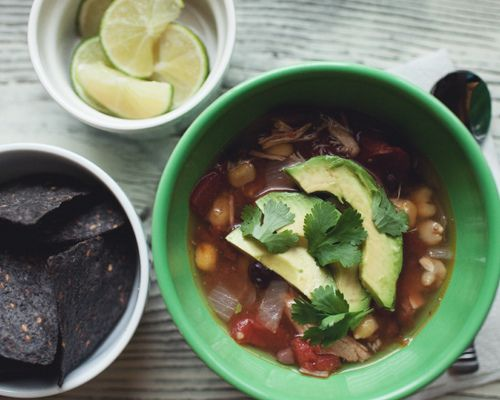 spicy chicken and black bean posole by the little red house, via Flickr