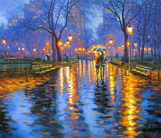 Свет в сумерках. Центральный парк, Нью-Йорк