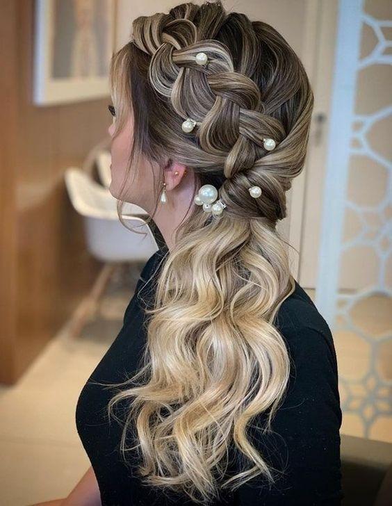 penteados para madrinha tranças suaves