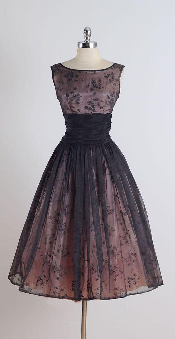 Robe de cocktail années 50