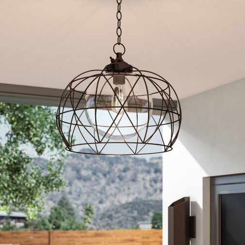 Wyckoff Blackened Oil Rubbed Bronze 1 Bulb 15 H Plug In Outdoor Pendant Outdoor Hanging Lights Outdoor Chandelier Outdoor Light Fixtures Plug in outdoor hanging light
