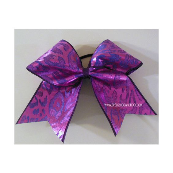 Pink and Purple Cheetah Large Cheer Bow Hair Bow Cheerleading (£7.72) ❤ liked on Polyvore featuring accessories, hair accessories, hair bow accessories, cheetah hair bow, pink hair accessories, cheetah print hair accessories and hair bows