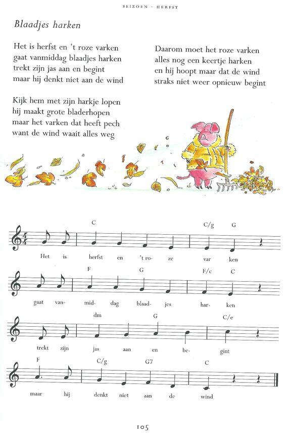 Liedje Blaadjes Harken Herfst Digitale