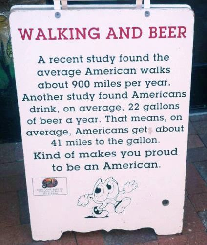 Walking and Beer
