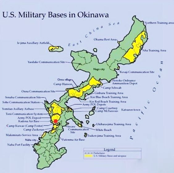 map of okinawa military bases | New US military base in ...