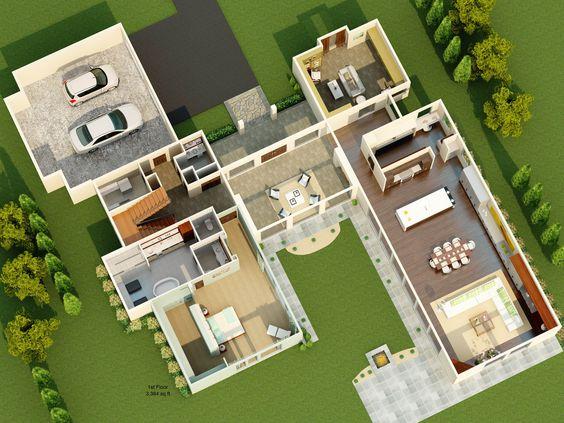 Floor Plan Dream House Interior Decorating Design