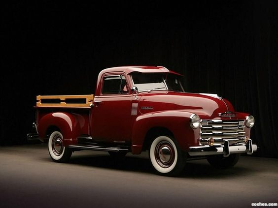 1951 Chevrolet Pickup. If this was way lower, it'd be the closest I've seen to my dream Pick Up so far.