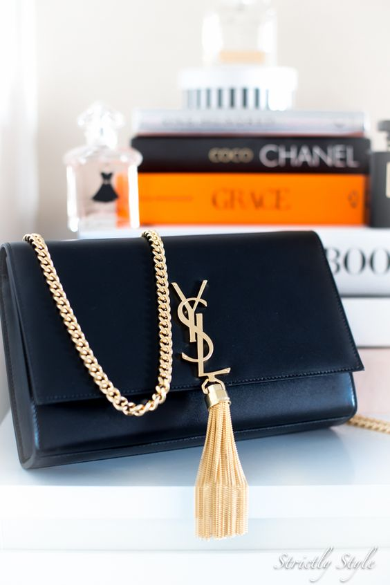 monogrammed leather clutch - Saint Laurent Tassel Shoulder Bag YSL clutch | Fashion | Pinterest ...
